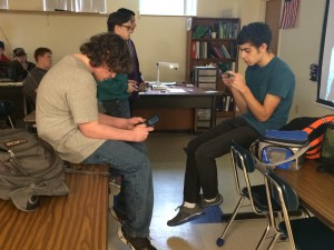Here you can see Jonathan Doliver and Aiden Crowe battling it out in Super Smash Bros. for Nintendo 3DS.