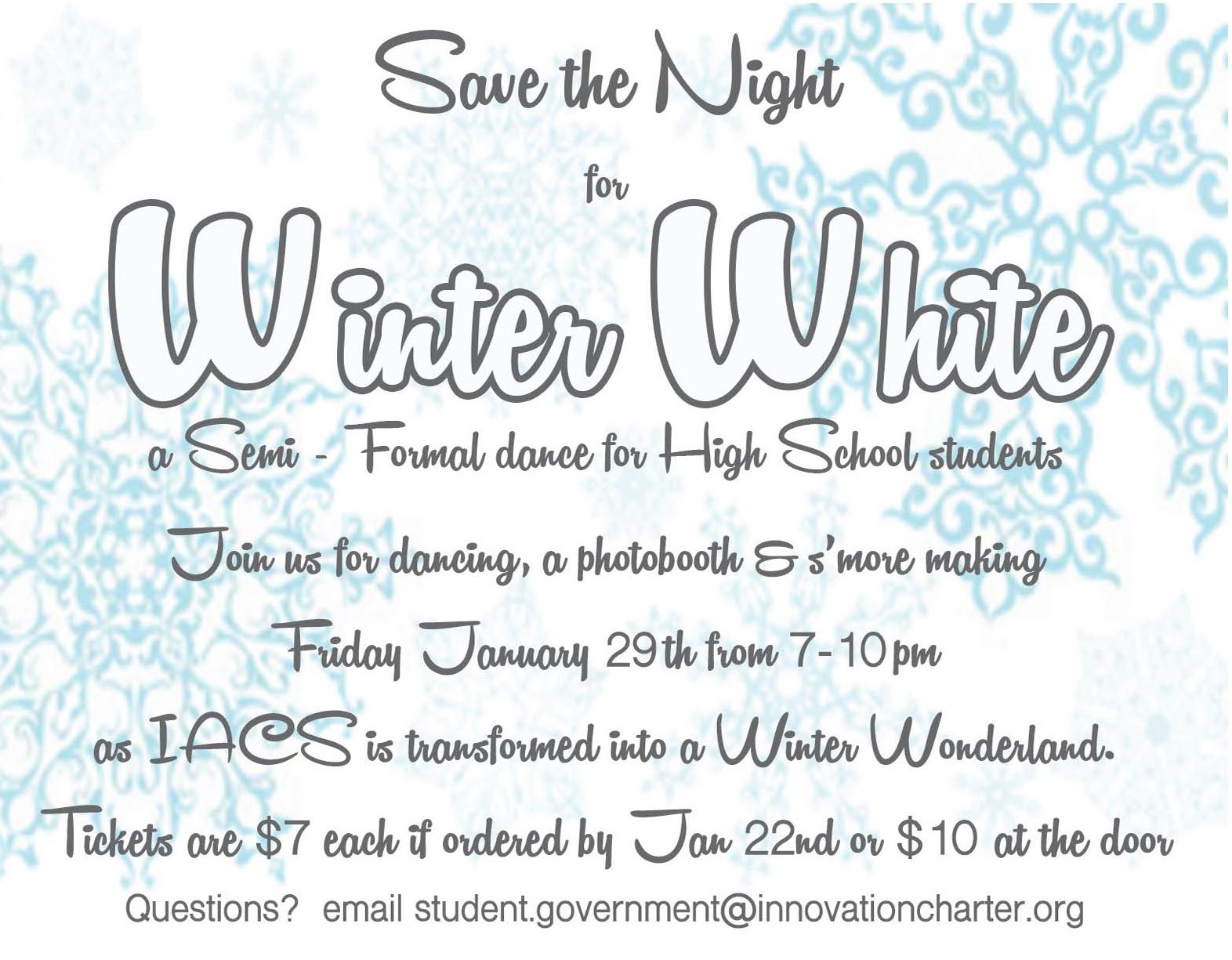 Winter White Waltz This Friday!