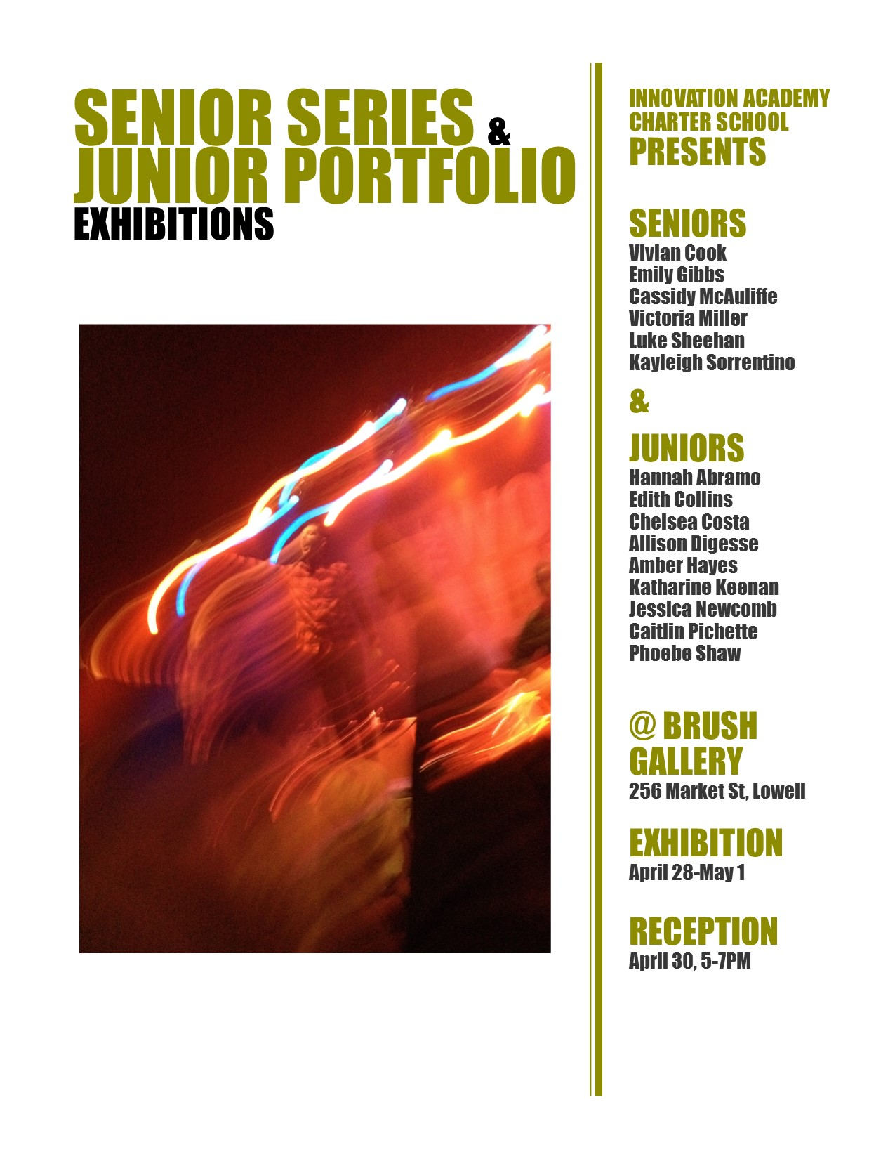 IACS Artists Present Senior Series and Junior Portfolio Exhibition