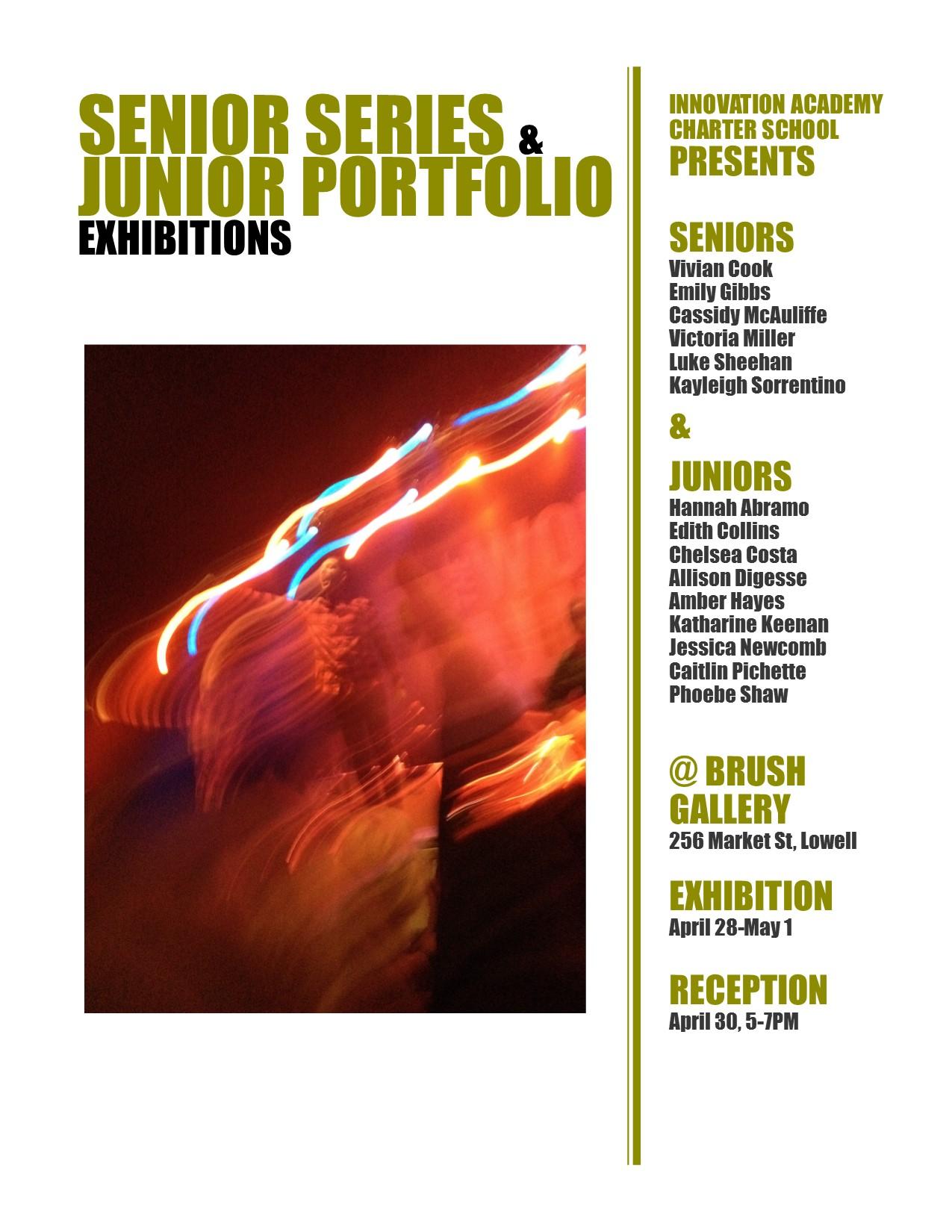 IACS Artists Present Senior Series and Junior Portfolio Exhibition